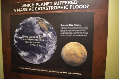 There is evidence for both Mars & Earth of a global flood.